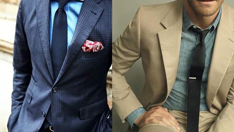 デニムシャツ-ネクタイ-ブラック