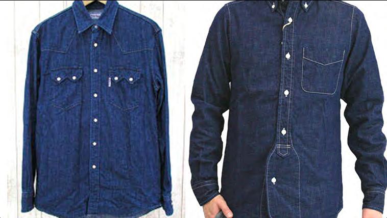 デニムシャツ-ネクタイ-ブルー