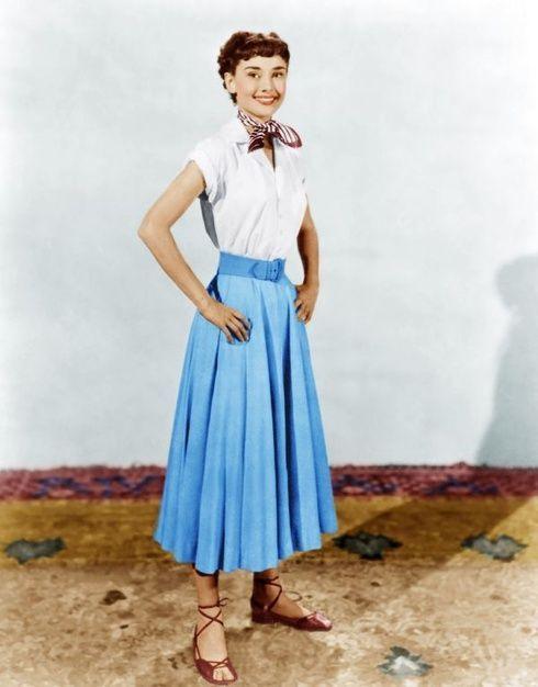 50年代のオードリーヘップバーンのスカーフ
