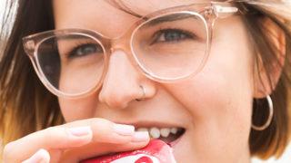 クリアメガネのコーディネート方法